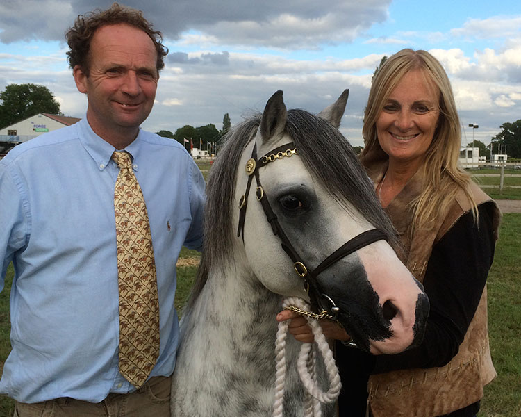 With Sian and Dafydd at his very last show in the UK where he was champion at the Stoneleigh Horse Show. Photo by Rob Jones