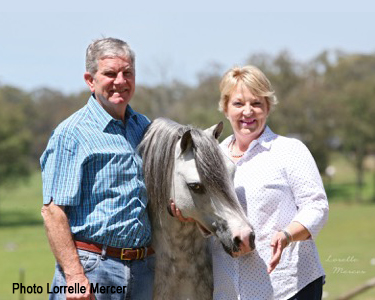 Happily settled with his adoring new owners Peter and Sue Lyons in Australia.